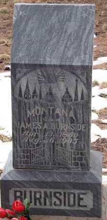 BURNSIDE, MONTANA - Teller County, Colorado | MONTANA BURNSIDE - Colorado Gravestone Photos