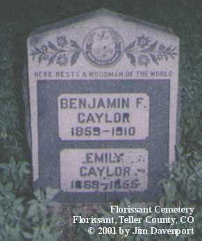 CAYLOR, EMILY - Teller County, Colorado | EMILY CAYLOR - Colorado Gravestone Photos