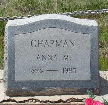 CHAPMAN, ANNA M - Teller County, Colorado | ANNA M CHAPMAN - Colorado Gravestone Photos