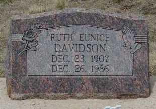 DAVIDSON, RUTH EUNICE - Teller County, Colorado   RUTH EUNICE DAVIDSON - Colorado Gravestone Photos