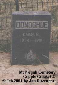 DONOGHUE, EMMA B. - Teller County, Colorado | EMMA B. DONOGHUE - Colorado Gravestone Photos