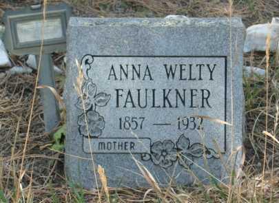 FAULKNER, ANNA WELTY - Teller County, Colorado   ANNA WELTY FAULKNER - Colorado Gravestone Photos