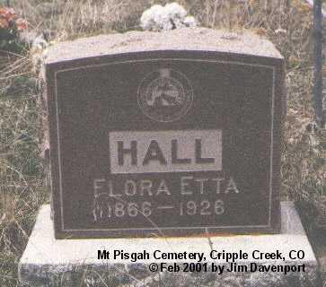 HALL, FLORA ETTA - Teller County, Colorado | FLORA ETTA HALL - Colorado Gravestone Photos