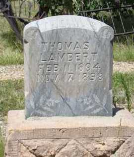 LAMBERT, THOMAS - Teller County, Colorado   THOMAS LAMBERT - Colorado Gravestone Photos