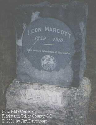 MARCOTT, LEON - Teller County, Colorado   LEON MARCOTT - Colorado Gravestone Photos