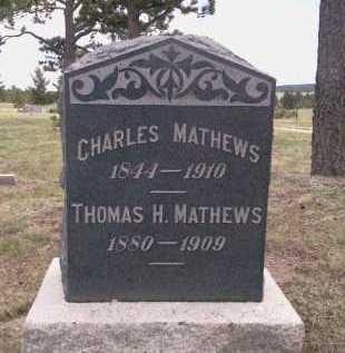MATTHEWS, CHARLES - Teller County, Colorado | CHARLES MATTHEWS - Colorado Gravestone Photos