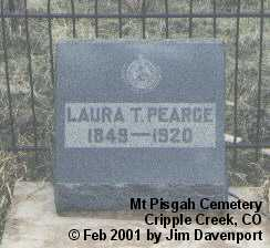PEARCE, LAURA T. - Teller County, Colorado | LAURA T. PEARCE - Colorado Gravestone Photos