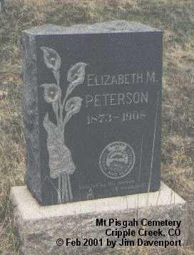 PETERSON, ELIZABETH M. - Teller County, Colorado | ELIZABETH M. PETERSON - Colorado Gravestone Photos