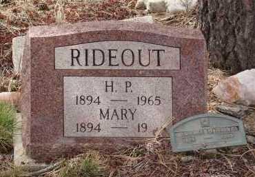 RIDEOUT, H. P. - Teller County, Colorado   H. P. RIDEOUT - Colorado Gravestone Photos