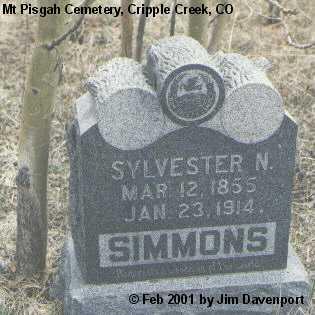 SIMMONS, SYLVESTER N. - Teller County, Colorado   SYLVESTER N. SIMMONS - Colorado Gravestone Photos