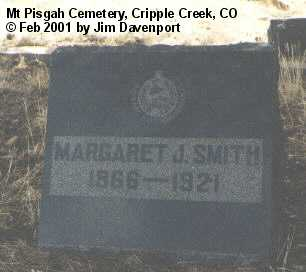 SMITH, MARGARET J. - Teller County, Colorado | MARGARET J. SMITH - Colorado Gravestone Photos