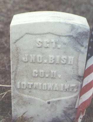 BISH, JNO. - Washington County, Colorado   JNO. BISH - Colorado Gravestone Photos