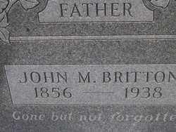 BRITTON, JOHN M. - Washington County, Colorado | JOHN M. BRITTON - Colorado Gravestone Photos