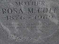 COLE, ROSA M. - Washington County, Colorado | ROSA M. COLE - Colorado Gravestone Photos