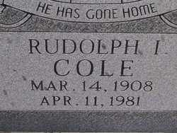 COLE, RUDOLPH I - Washington County, Colorado   RUDOLPH I COLE - Colorado Gravestone Photos