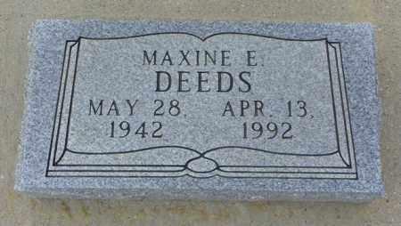 DEEDS, MAXINE E - Washington County, Colorado | MAXINE E DEEDS - Colorado Gravestone Photos