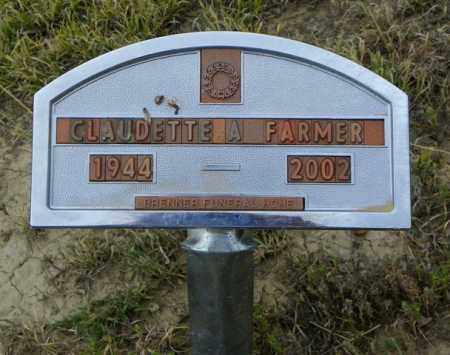 FARMER, CLAUDETTE A - Washington County, Colorado | CLAUDETTE A FARMER - Colorado Gravestone Photos