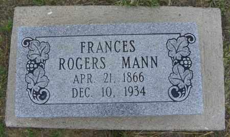 MANN, FRANCES - Washington County, Colorado | FRANCES MANN - Colorado Gravestone Photos
