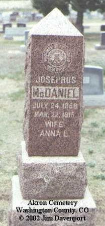 MCDANIEL, ANNA L. - Washington County, Colorado | ANNA L. MCDANIEL - Colorado Gravestone Photos