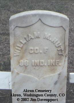 NUTT, WILLIAM M. - Washington County, Colorado | WILLIAM M. NUTT - Colorado Gravestone Photos