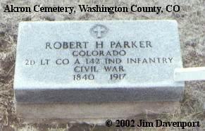 PARKER, ROBERT H. - Washington County, Colorado | ROBERT H. PARKER - Colorado Gravestone Photos