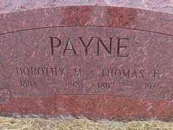 PAYNE, THOMAS  F. - Washington County, Colorado | THOMAS  F. PAYNE - Colorado Gravestone Photos