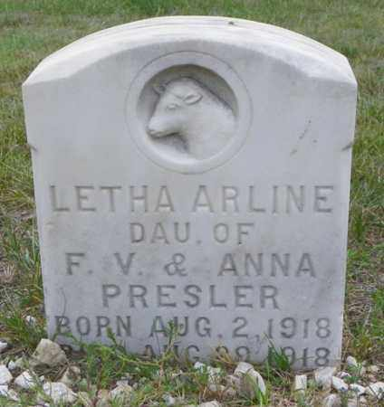PRESLER, LETHA ARLINE - Washington County, Colorado | LETHA ARLINE PRESLER - Colorado Gravestone Photos