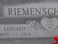 RIEMENSCHNEIDER, EDWARD - Washington County, Colorado   EDWARD RIEMENSCHNEIDER - Colorado Gravestone Photos