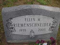 RIEMENSCHNEIDER, ELLEN M. - Washington County, Colorado   ELLEN M. RIEMENSCHNEIDER - Colorado Gravestone Photos