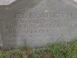 RUBY, ELIZABETH - Washington County, Colorado   ELIZABETH RUBY - Colorado Gravestone Photos