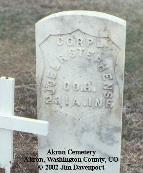 STEPHENS, JOEL R. - Washington County, Colorado   JOEL R. STEPHENS - Colorado Gravestone Photos