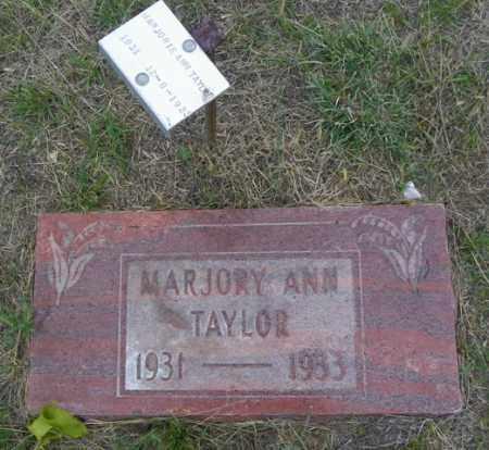 TAYLOR, MARJORY ANN - Washington County, Colorado | MARJORY ANN TAYLOR - Colorado Gravestone Photos