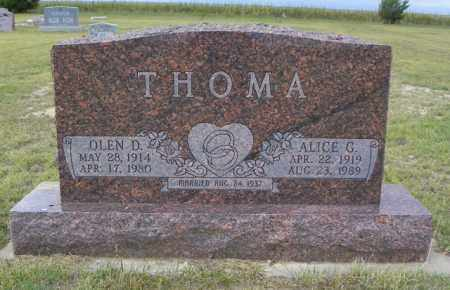 THOMA, OLEN D - Washington County, Colorado | OLEN D THOMA - Colorado Gravestone Photos