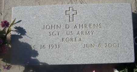 AHRENS, JOHN D. - Weld County, Colorado | JOHN D. AHRENS - Colorado Gravestone Photos