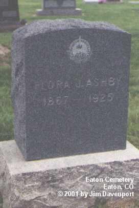 ASHBY, FLORA J. - Weld County, Colorado   FLORA J. ASHBY - Colorado Gravestone Photos