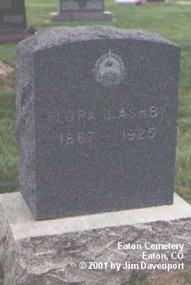 ASHBY, FLORA J. - Weld County, Colorado | FLORA J. ASHBY - Colorado Gravestone Photos