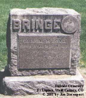 BRINGE, CATHERINE M. - Weld County, Colorado   CATHERINE M. BRINGE - Colorado Gravestone Photos