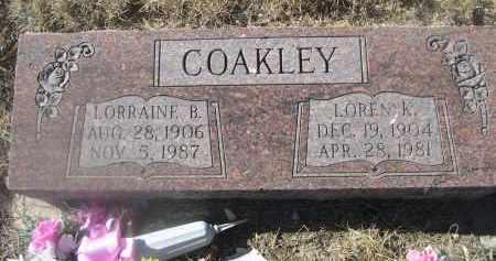 COAKLEY, LOREN K. - Weld County, Colorado | LOREN K. COAKLEY - Colorado Gravestone Photos