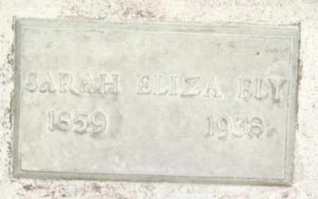 ELY, SARAH ELIZA - Weld County, Colorado | SARAH ELIZA ELY - Colorado Gravestone Photos
