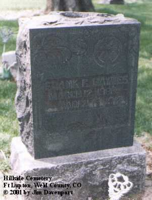 HAYNES, FRANK G. - Weld County, Colorado   FRANK G. HAYNES - Colorado Gravestone Photos