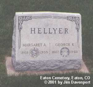 HELLYER, MARGARET A. - Weld County, Colorado | MARGARET A. HELLYER - Colorado Gravestone Photos