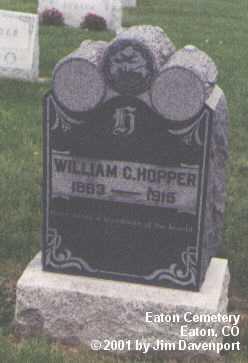 HOPPER, WILLIAM C. - Weld County, Colorado | WILLIAM C. HOPPER - Colorado Gravestone Photos