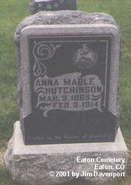 HUTCHINSON, ANNA MABLE - Weld County, Colorado   ANNA MABLE HUTCHINSON - Colorado Gravestone Photos