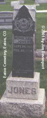 JONES, NICHOLAS L. - Weld County, Colorado | NICHOLAS L. JONES - Colorado Gravestone Photos