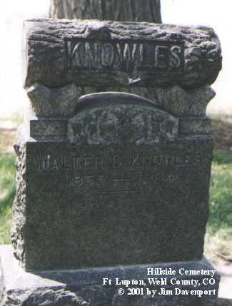 KNOWLES, WALTER C. - Weld County, Colorado   WALTER C. KNOWLES - Colorado Gravestone Photos