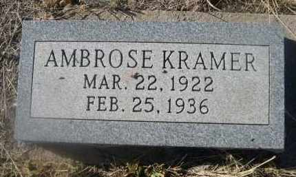 KRAMER, AMBROSE - Weld County, Colorado | AMBROSE KRAMER - Colorado Gravestone Photos