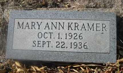 KRAMER, MARY ANN - Weld County, Colorado | MARY ANN KRAMER - Colorado Gravestone Photos