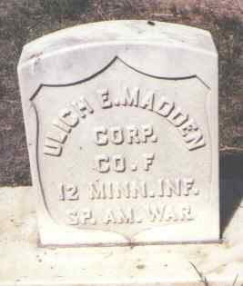 MADDEN, ULICH E. - Weld County, Colorado | ULICH E. MADDEN - Colorado Gravestone Photos