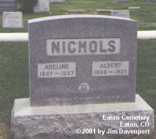 NICHOLS, ALBERT - Weld County, Colorado | ALBERT NICHOLS - Colorado Gravestone Photos