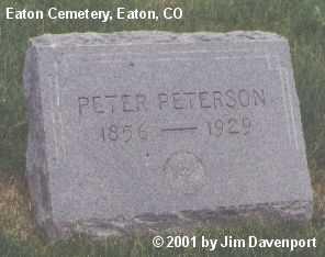 PETERSON, PETER - Weld County, Colorado | PETER PETERSON - Colorado Gravestone Photos